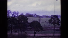 1969: beautiful countryside expanse witnessed on a gray cloudy day IRELAND Stock Footage