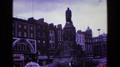 1969: a city is seen with tall buildings along a coastal area IRELAND Stock Footage