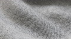 Grey training shirt or pants fine fabric texture close-up 4K Stock Footage