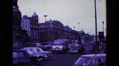 1969: people, cars, police officer's IRELAND Stock Footage