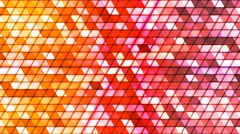 Broadcast Twinkling Cubic Hi-Tech Triangles, Multi Color, Abstract, Loopable, 4K Stock Footage