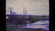 1969: water running in a stream or river out in the country IRELAND Stock Footage