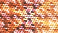 Broadcast Twinkling Cubic Hi-Tech Triangles, Brown, Abstract, Loopable, 4K Stock Footage