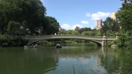 Boating on The Lake in Central Park (4K), Manhattan, New York, United States. Stock Footage