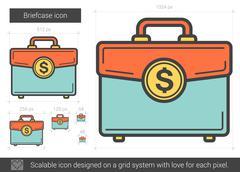 Briefcase line icon Stock Illustration