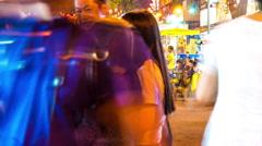 View on Jalan Alor in Kuala Lumpur Stock Footage