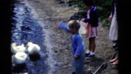 1963: family day at the park CAMDEN, NEW JERSEY Stock Footage