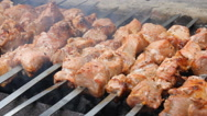 Grilled caucasus barbecue Stock Footage
