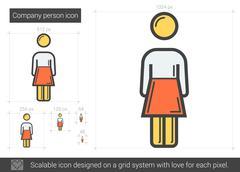 Company person line icon Stock Illustration
