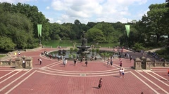 Bethesda Terrace & Fountain in Central Park, Manhattan, New York, United States. Stock Footage
