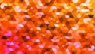 Broadcast Twinkling Polygon Hi-Tech Triangles, Orange, Abstract, Loopable, 4K Stock Footage