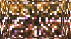 Broadcast Twinkling Hi-Tech Squares Room, Brown, Abstract, Loopable, 4K Stock Footage