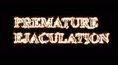 Premature ejaculation fire effect Stock Footage