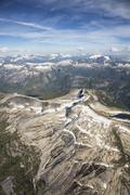 Vintage Peak North Powell River British Columbia Coastal Mountains Stock Photos