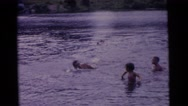 1963: a swimming scene CAMDEN, NEW JERSEY Stock Footage