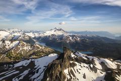 The Black Tusk and Garibaldi Lake and Mt. Garibaldi BC Canada Stock Photos