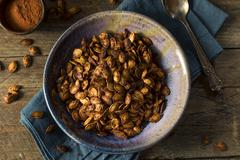 Homemade Roasted Spicy Pumpkin Seeds Stock Photos
