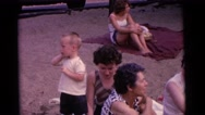 1963: children enjoying a nice day at the lake with their families. CAMDEN Stock Footage