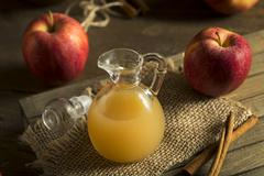 Raw Organic Apple Cider Vinegar Stock Photos