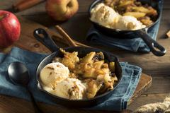Homemade Sauteed Cinnamon Sugar Apples Stock Photos