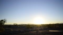 Desert Sunset Timelapse Stock Footage