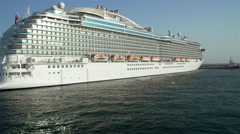 Movement along a large cruise ship Stock Footage
