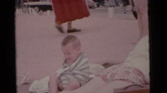 1963: a small girl is seen happy and walking CAMDEN, NEW JERSEY Stock Footage