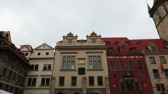 Old Town Square in Prague, Czech Republic Stock Footage