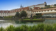 View on the old city Prague. Czech Republic Stock Footage