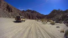 Borrego Desert California Sandstone Canyon Trail Duster Stock Footage