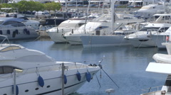 Pierce with yachts. Stock Footage