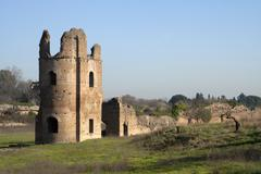 Circus of Maxentius A Stock Photos
