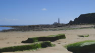 Lighthouse on the North Sea coast. Stock Footage