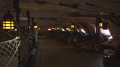 Inside the old ship. Stock Footage
