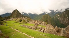 Machu Picchu (Inca city) in Peru, South America Stock Footage