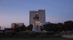 Sam Houston Statue in Houston Stock Footage