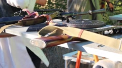 Weapons Used by Terrorist Group Stock Footage
