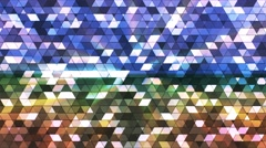 Broadcast Twinkling Squared Hi-Tech Triangles, Multi Color, Abstract, Loop, 4K Arkistovideo