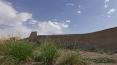 Weeds and earthen fort Stock Footage