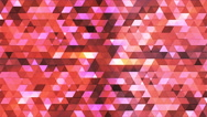 Broadcast Twinkling Polygon Hi-Tech Triangles, Pink, Abstract, Loopable, 4K Stock Footage