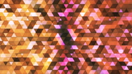 Broadcast Twinkling Polygon Hi-Tech Triangles, Multi Color, Abstract, Loop, 4K Stock Footage