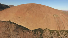 Aerial view of a massive granite rock, Northern Cape, South Africa Stock Footage