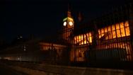 Big Ben at night Stock Footage