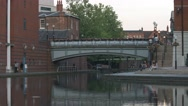 Bridge near Old Turn Junction on the Birmingham Canal System. Stock Footage