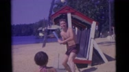 1963: family day in the sun CAMDEN, NEW JERSEY Stock Footage