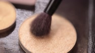Process of using eyeshadow with brush Stock Footage