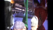 1963: young boy playing with a fun house mirror CAMDEN, NEW JERSEY Stock Footage