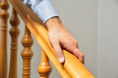 Wooden railing Stock Photos