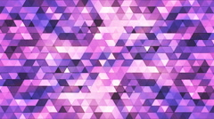 Broadcast Twinkling Polygon Hi-Tech Triangles, Purple, Abstract, Loopable,  Stock Footage