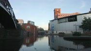 BIRMINGHAM, ENGLAND - 5 SEPTEMBER 2016 - Sealife Centre on the Canal System. Stock Footage
